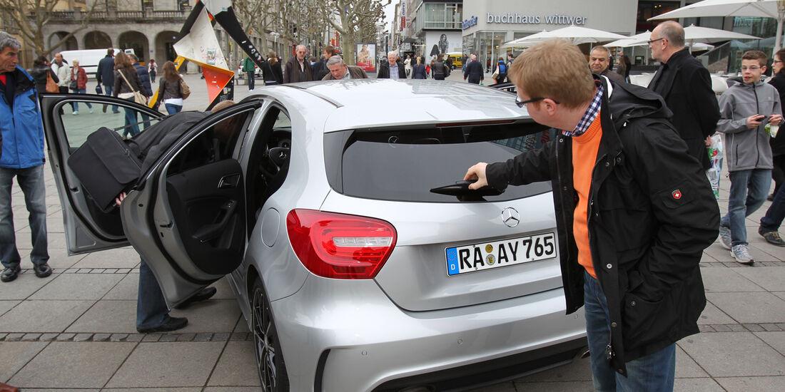 Mercedes A-Klasse, Heck, Fußgängerzone
