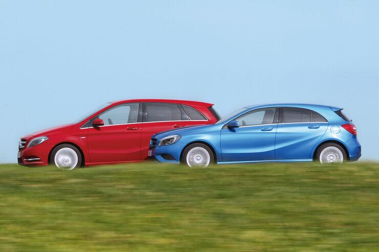 Mercedes A-Klasse, Mercedes B-Klasse, Seitenansicht