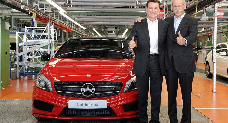 Mercedes A-Klasse Produktionsstart Rastatt Zetsche, Bernhard