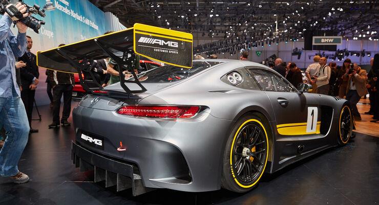 Mercedes AMG GT3 auf dem Genfer Autosalon: GT3-Waffe aus ...
