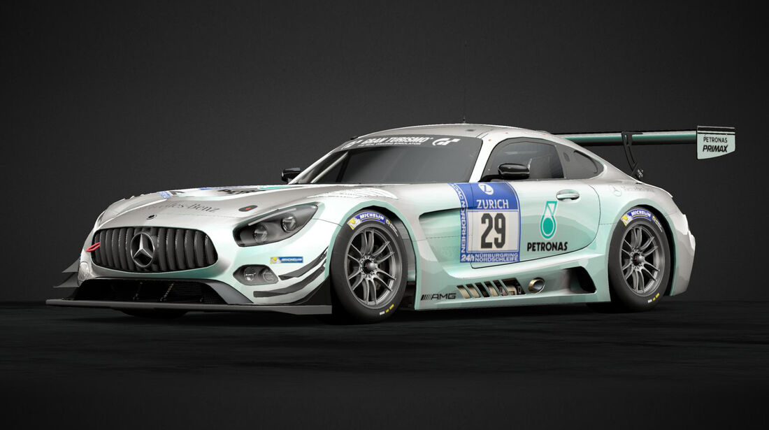 Mercedes AMG GT3 im F1-Design - 2019