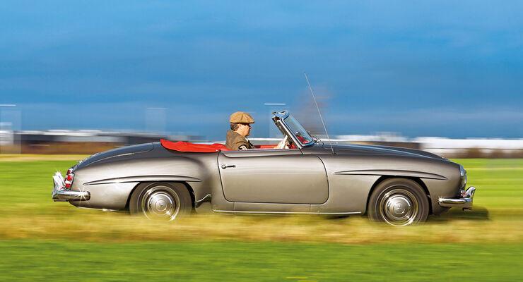 Mercedes-Benz 190 SL, Seitenansicht