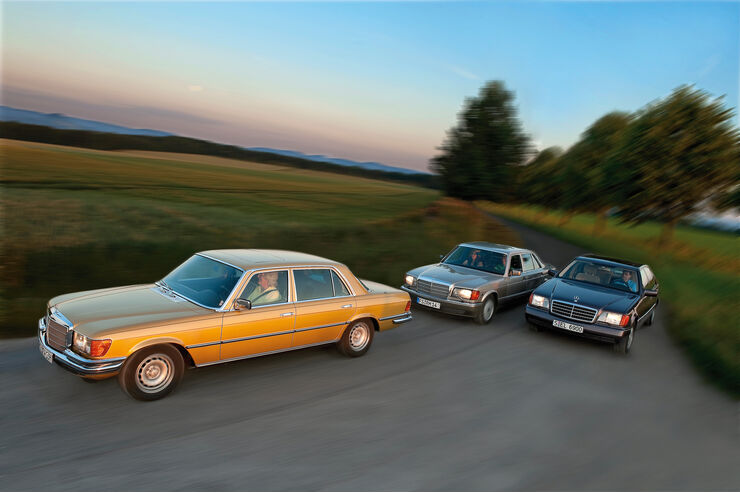 Mercedes-Benz S-Klasse - drei Generationen