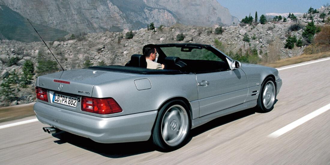 Mercedes-Benz SL 73 in Fahrt