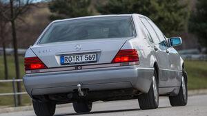 Mercedes-Benz W140, V8/V12, Heckansicht