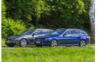 Mercedes C 180 T, BMW 330d, Seitenansicht