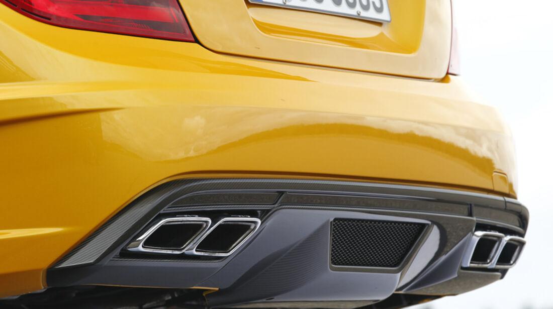 Mercedes C 63 AMG Coupé Black Series, Auspuff, Endrohr
