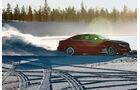Mercedes C 63 AMG, Schneelandschaft