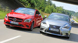 Mercedes CLA 250, Lexus IS 300h, Frontansicht