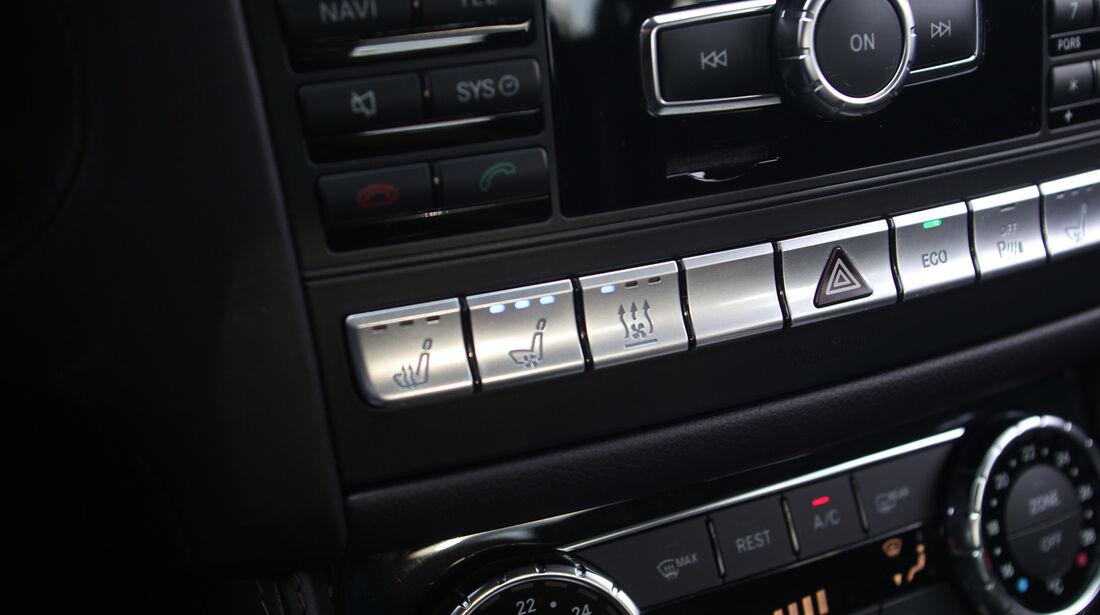 Mercedes CLS 500 4matic, Mittelkonsole, Bedienelemente
