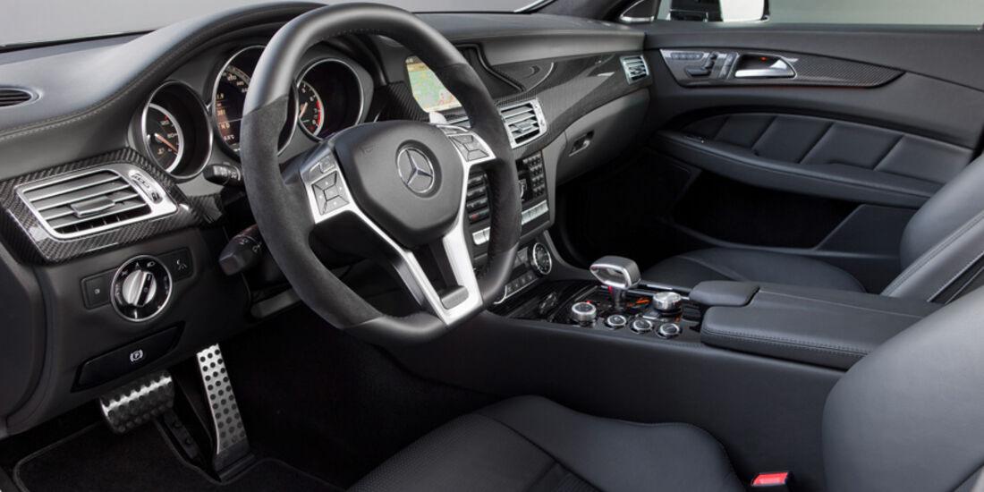Mercedes CLS 63 AMG, CLS-Cockpit, Innenraum, AMG-Sportlenkrad