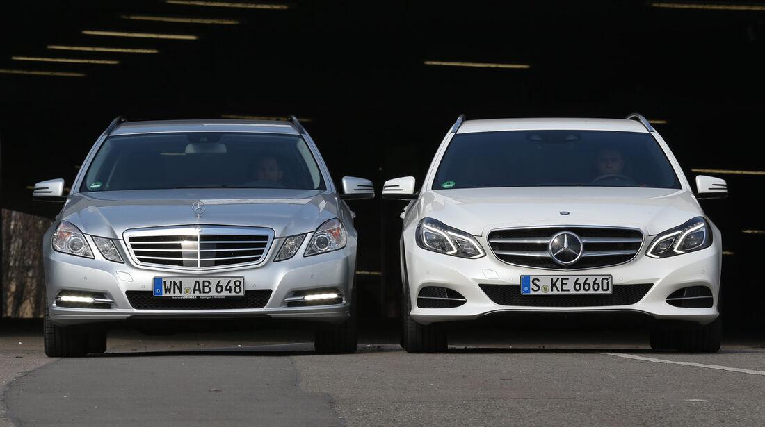 Mercedes E 200 T, Alte E-Klasse, Frontansicht