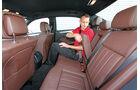 Mercedes E 220 CDI, Rücksitz, Beinfreiheit