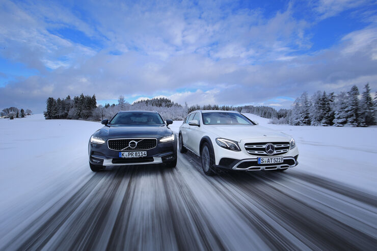 Mercedes E 220 d All-Terrain 4Matic, Volvo V90 Cross Country D4 AWD, Exterieur