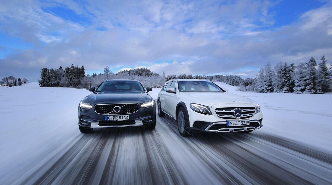 Mercedes E 220 d All-Terrain 4Matic, Volvo V90 Cross Country D4 AWD, Exterieur