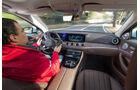 Mercedes E 220 d, Fahrersicht, Cockpit