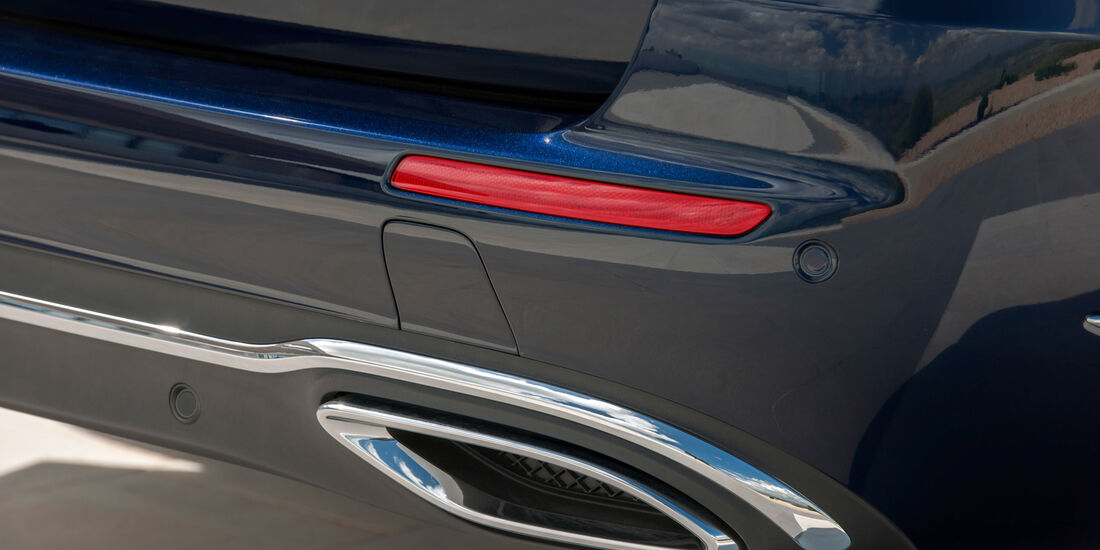 Mercedes E 220 d T-Modell, Endrohr, Auspuff
