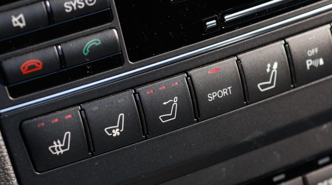 Mercedes E 350 Cabriolet, Sitzheizung, Bedeinelemente