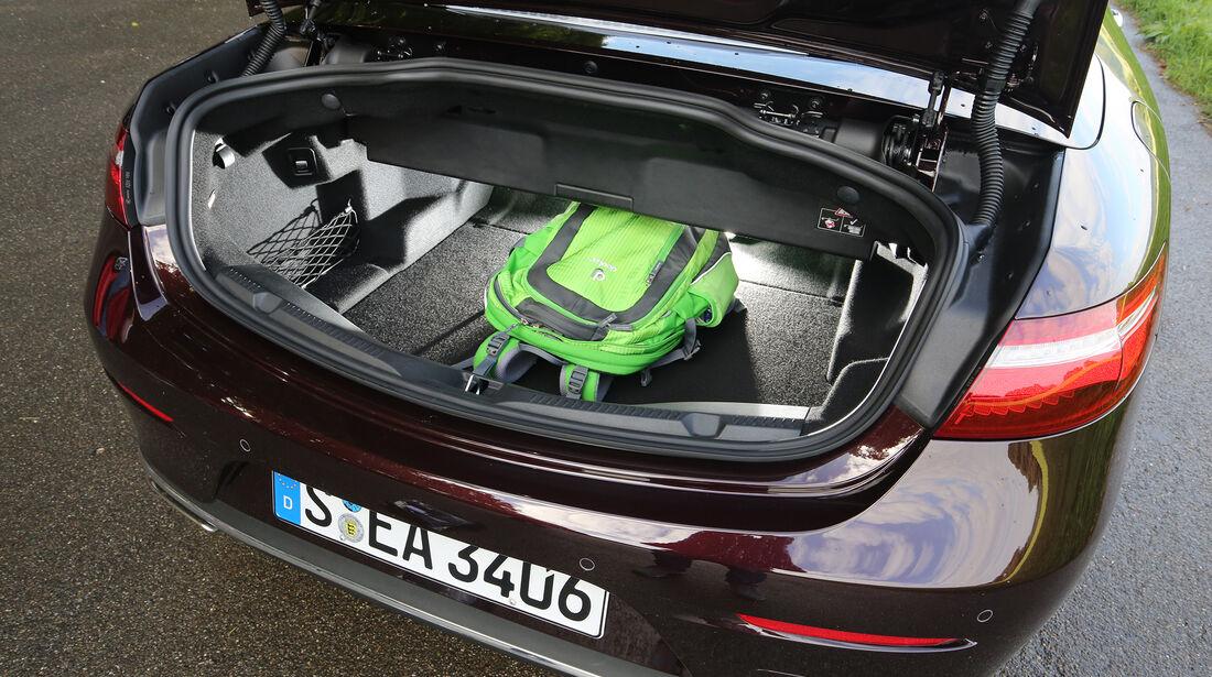 Mercedes, E 400 Cabrio, Interieur, Kofferraum