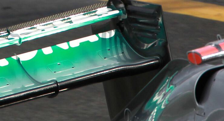 Mercedes F-Schacht Heckflügel GP Australien 2012