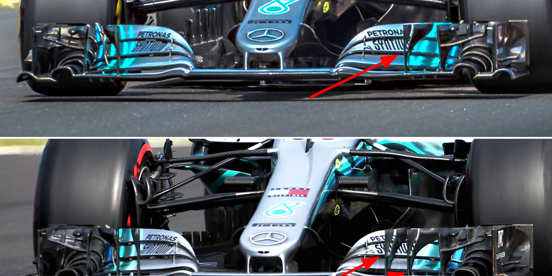 Mercedes - F1-Technik - GP Ungarn 2018