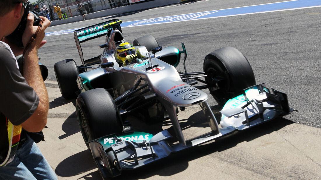 Mercedes Formel 1 Technik GP Spanien 2012