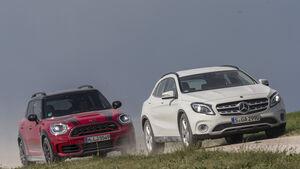 Mercedes GLA 250 4Matic Style, Mini Countryman John Cooper Works All4, Exterieur