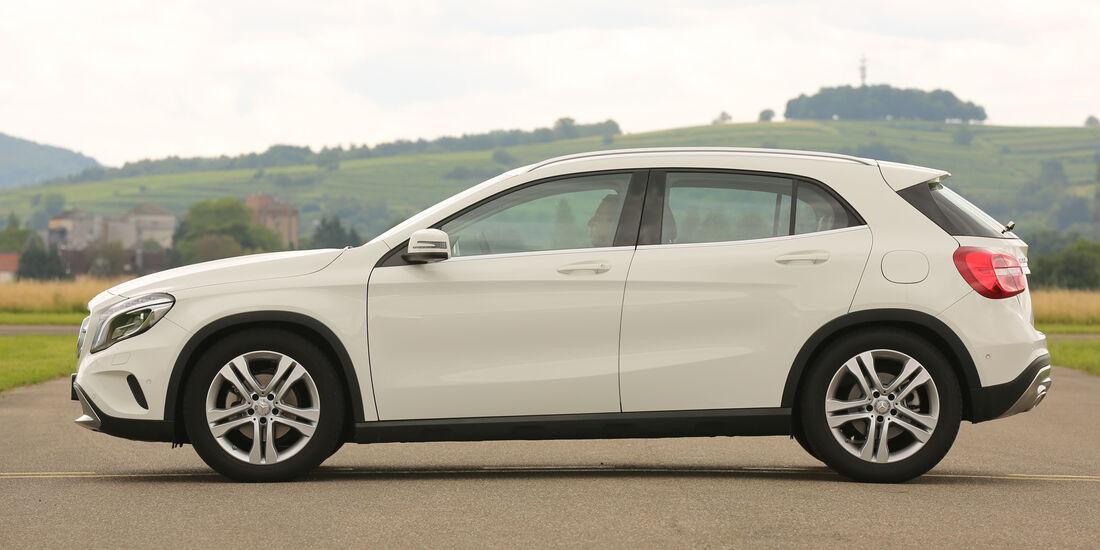 Mercedes GLA, Seitenansicht