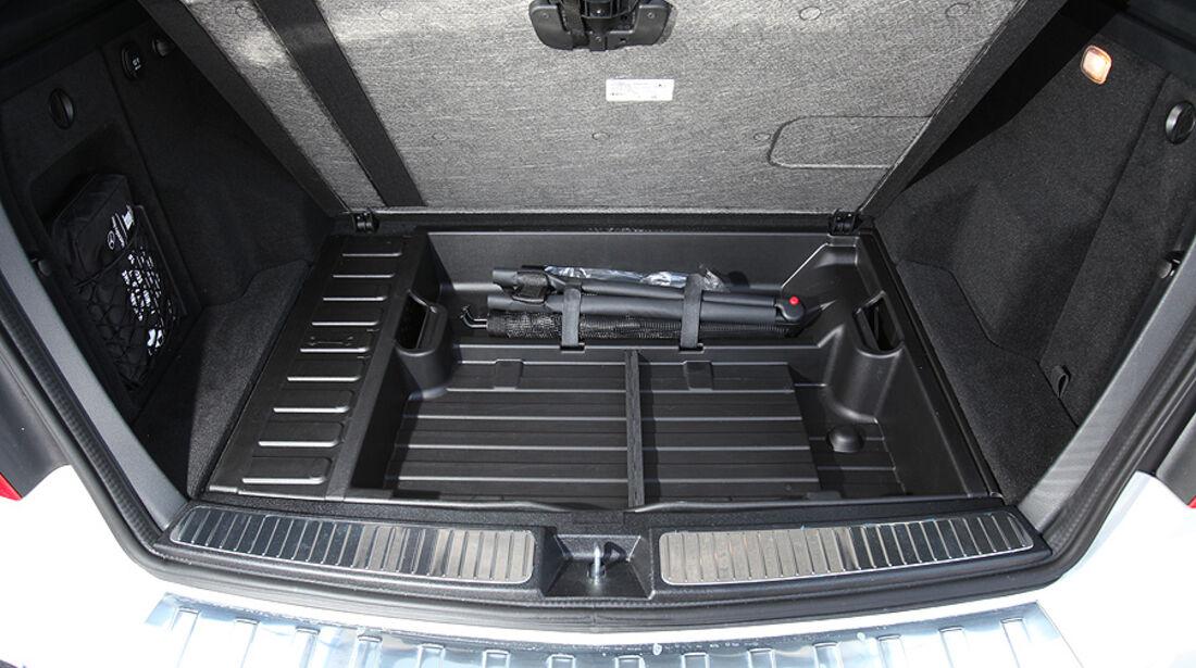 Mercedes GLK 200 CDI, Kofferraum, Unterboden