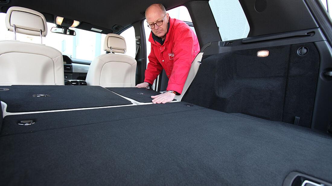 Mercedes GLK 200 CDI, Kofferraum, umgeklappte Rückbank