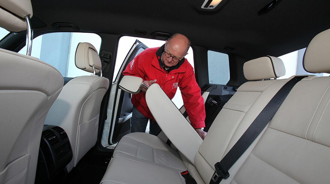 Mercedes GLK 200 CDI, umklappbare Rücksitze