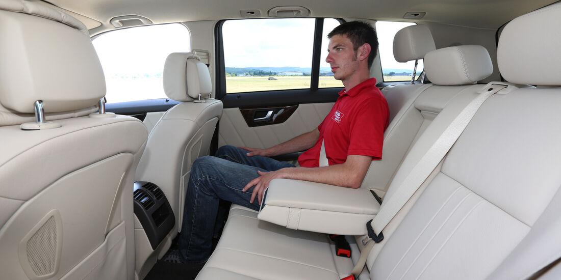 Mercedes GLK 250 Bluetec 4Matic, Fondsitz, Beinfreiheit