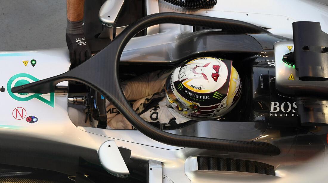 Mercedes - Halo-Test - Formel 1 - 2016
