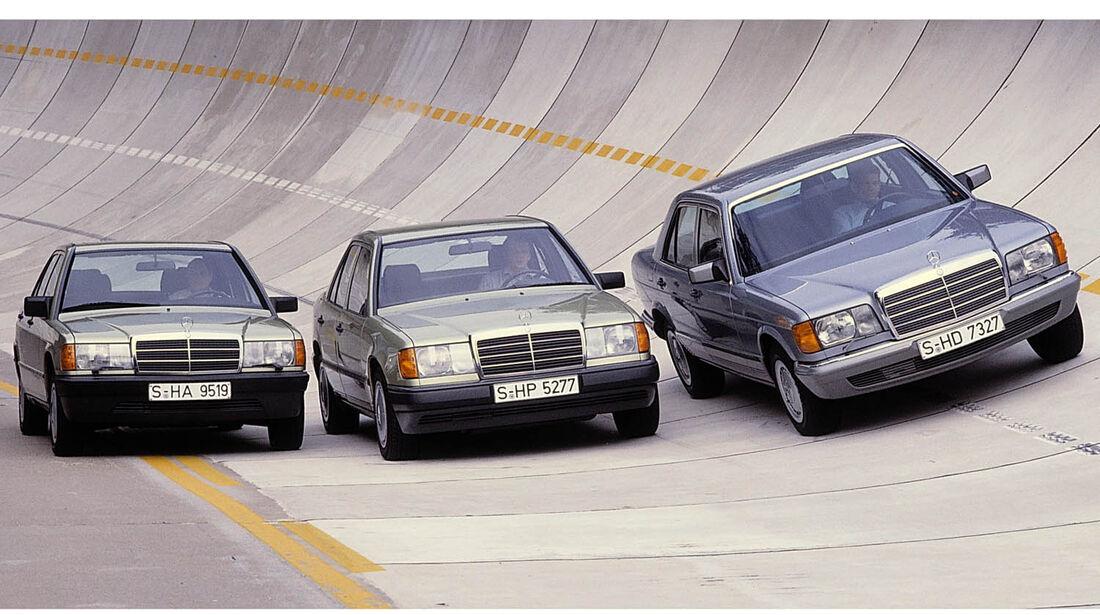 Mercedes  Kompakt-Klasse W 201, W124, S-Klasse 126