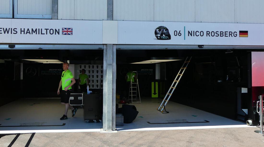 Mercedes - Logistik - GP Monaco 2016
