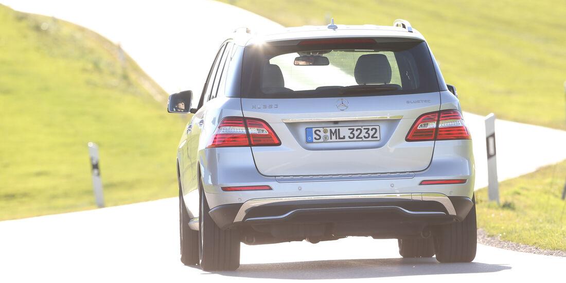 Mercedes ML 350 Bluetec, Heckansicht