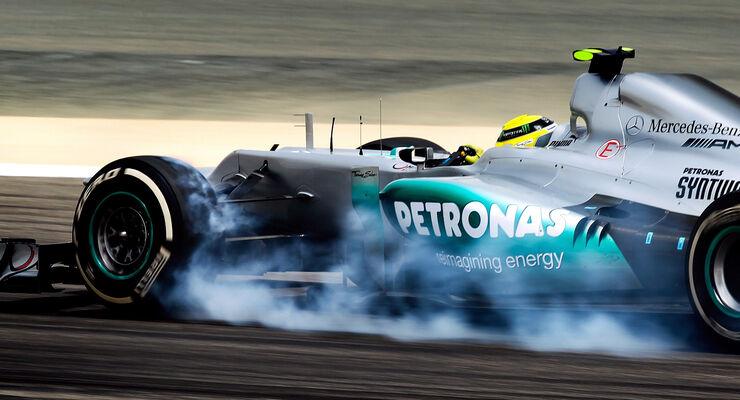 Mercedes Nico Rosberg GP Bahrain 2012