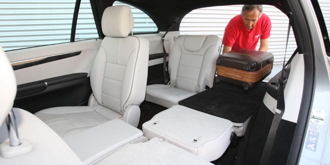 Mercedes R 350 CDI 4Matic, Fond, Rückbank, dritte Sitzreihe