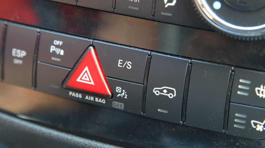Mercedes R 350 CDI 4Matic, Mittelkonsole, Warnblinker, Automatik-Programme
