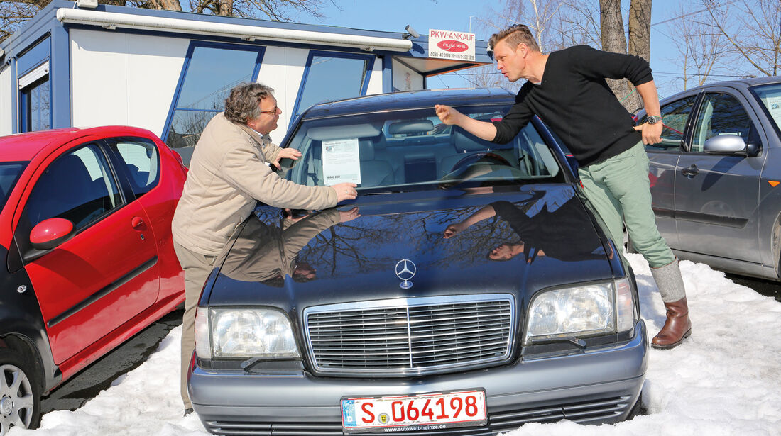 Mercedes S 500, Frontansicht, Händler