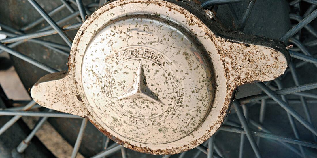 Mercedes S Kompressor, Zentralmutter, Drahtspeichenräder