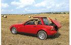 Mercedes SLK 200, Seitenansicht, Verdeck schließt