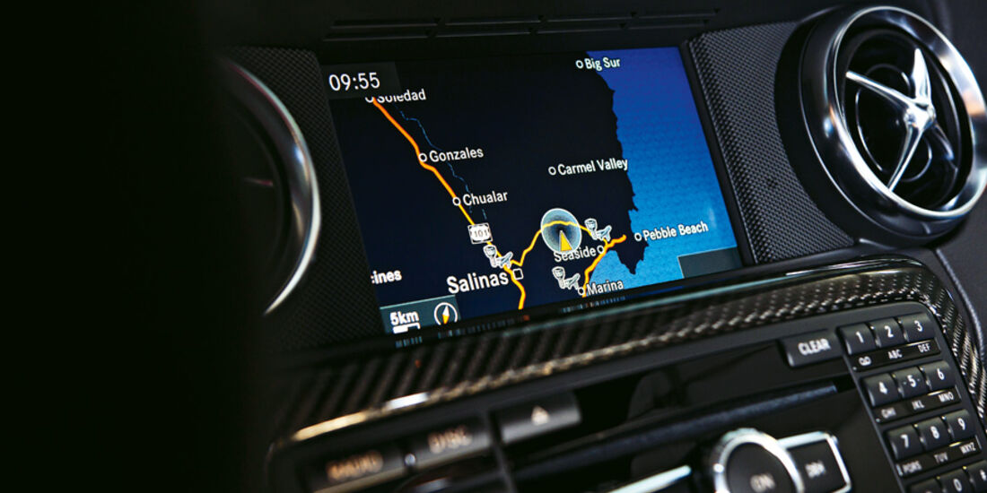 Mercedes SLK 55 AMG, Display