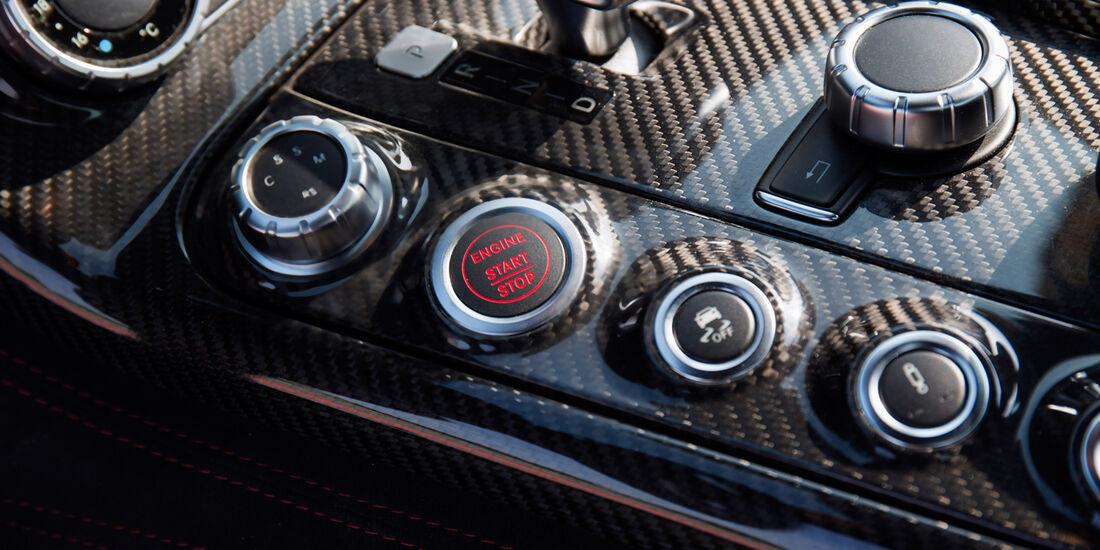 Mercedes SLS AMG Black Series, Mittelkonsole, Bedienelemente