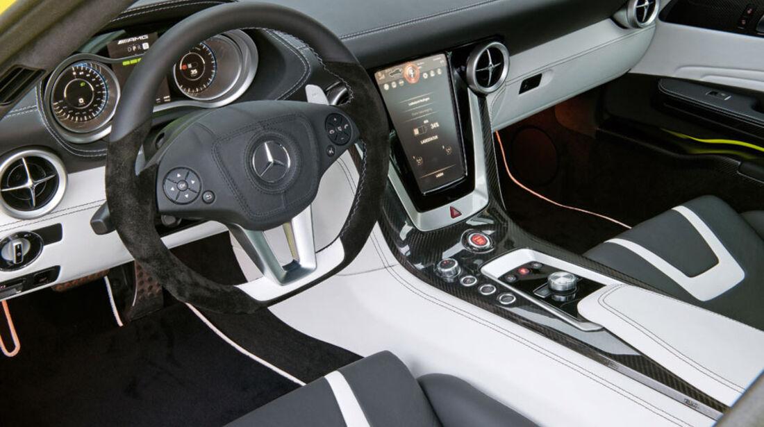 Mercedes SLS AMG E-Cell, Innenraum, Cockpit