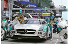 Mercedes SLS AMG GT3, Boxengasse, Stopp