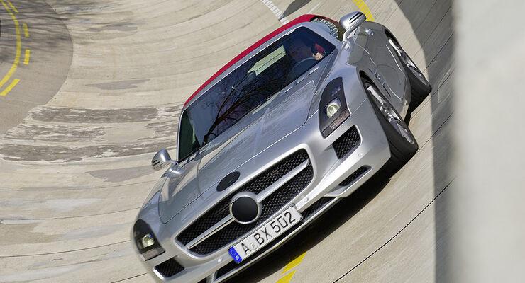 Mercedes SLS AMG Roadster getarnt