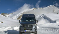 Mercedes Sprinter 319 CDI 4x4 Modelljahr 2019 Wintertest