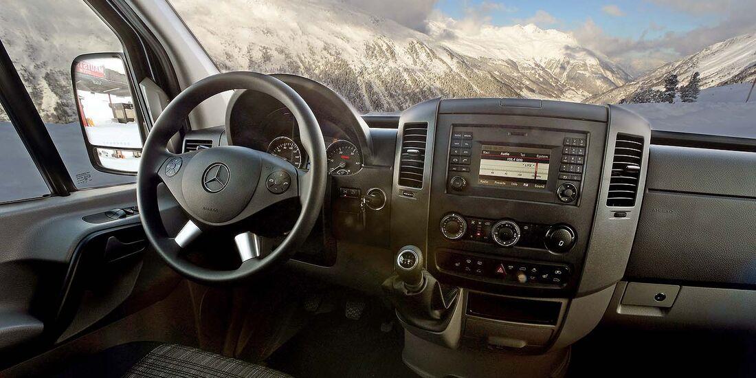 Mercedes Sprinter 4x4 MY 2013 im Winter-Test
