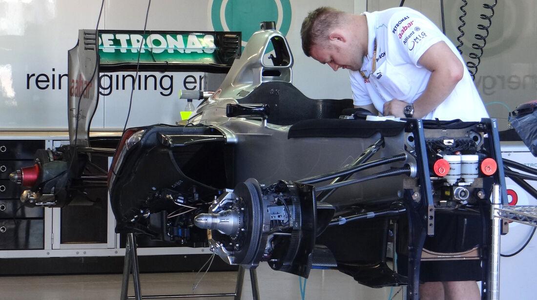 Mercedes-Technik - Formel 1 - GP Kanada - 7. Juni 2012
